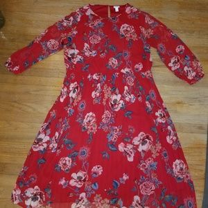Target Ava and Viv red pleated dress 2x 22